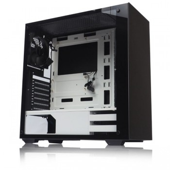 Tecware Nexus Tempered Glass Gaming Casing With 3 Units 12CM Fan (Black White)