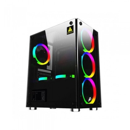 1st Player Firebase X2 M-ATX Casing With 4 in 1 FireBase G1 RGB Fan + Controller