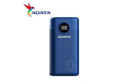ADATA P10000QCD 10,000mAh Powerbank (Black/Blue/White)